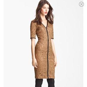 Burberry knee-length dress in Khaki lace
